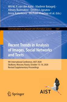 Recent Trends in Analysis of Images, Social Networks and Texts, Buch
