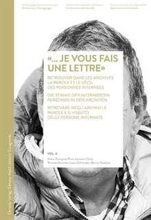 Anne-Françoise Praz: «... je vous fais une lettre», Buch