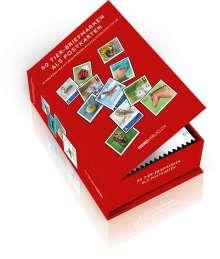 Postkartenbox 50 Tier-Briefmarken als Postkarten, Buch