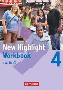 New Highlight 4: 8. Schuljahr. Workbook mit Text-CD, Buch