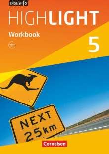 Gwen Berwick: English G Highlight Band 5: 9. Schuljahr - Hauptschule - Workbook mit Audios online, Buch