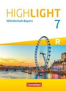 Mr Frank Donoghue Abbey And Donoghue Ltd.: Highlight 7. Jahrgangsstufe - Mittelschule Bayern - Für R-Klassen - Schülerbuch, Buch