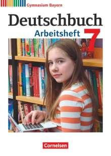 Martin Scheday: Deutschbuch Gymnasium 7. Jahrgangsstufe - Bayern - Arbeitsheft mit Lösungen, Buch
