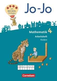 Joachim Becherer: Jo-Jo Mathematik 4. Schuljahr - Allgemeine Ausgabe 2018 - Arbeitsheft Fördern, Buch