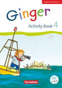 Kerstin Caspari-Grote: Ginger - Early Start Edition 4. Schuljahr - Activity Book mit Audio-CD, Minibildkarten und Faltbox, Buch