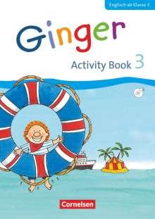 Ines Völtz: Ginger 3. Schuljahr. Activity Book mit Audio-CD und Minibildkarten, Buch