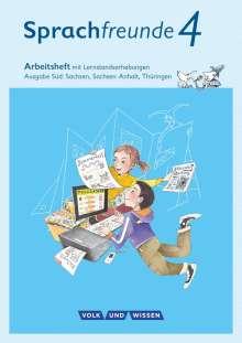 Katrin Junghänel: Sprachfreunde 4. Schuljahr - Ausgabe Süd (Sachsen, Sachsen-Anhalt, Thüringen) - Arbeitsheft in Schulausgangsschrift, Buch