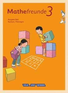 Jana Elsner: Mathefreunde 3. Schuljahr. Schülerbuch mit Kartonbeilagen Süd., Buch