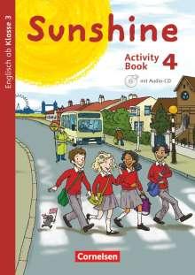 Tanja Beattie: Sunshine 4. Schuljahr. Activity Book mit Audio-CD und Minibildkarten und Faltbox, Buch