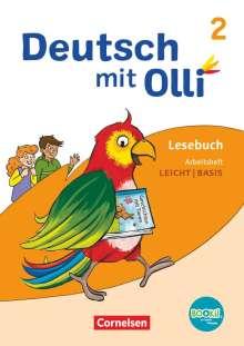Simone Eutebach: Deutsch mit Olli Lesen 2-4 2. Schuljahr. Arbeitsheft Leicht / Basis, Buch