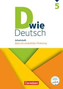 Margret Angel: D wie Deutsch - Zu allen Ausgaben 5. Schuljahr - Arbeitsheft mit Lösungen, Buch