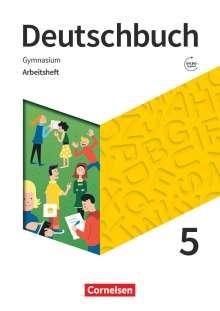 Michael Germann: Deutschbuch Gymnasium 5. Schuljahr- Zu den Ausgaben Allgemeine Ausgabe, NDS, NRW - Arbeitsheft mit Lösungen, Buch