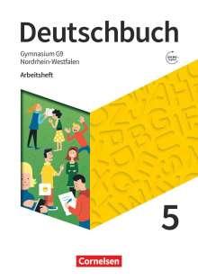 Michael Germann: Deutschbuch Gymnasium 5. Schuljahr - Nordrhein-Westfalen - Neue Ausgabe - Arbeitsheft mit Lösungen, Buch