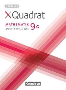 XQuadrat 9. Schuljahr - Baden-Württemberg - Lösungen zum Schülerbuch, Buch