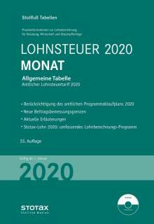 Tabelle, Lohnsteuer 2020 Monat, Buch
