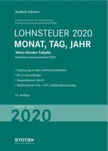 Tabelle, Lohnsteuer 2020 Mehr-Kinder-Tabelle, Buch