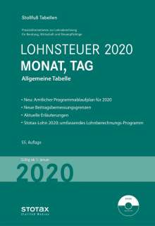 Tabelle, Lohnsteuer 2020 Monat, Tag, Buch