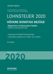 Tabelle, Lohnsteuer 2020 Höhere Sonstige Bezüge, Buch