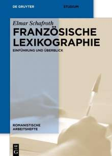 Elmar Schafroth: Französische Lexikographie, Buch