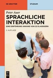 Peter Auer: Sprachliche Interaktion, Buch