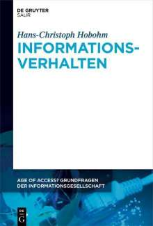 Hans-Christoph Hobohm: Informationsverhalten, Buch