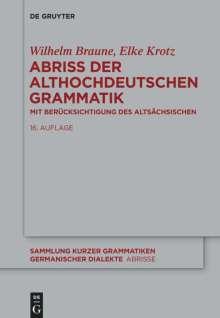 Wilhelm Braune: Abriss der althochdeutschen Grammatik, Buch