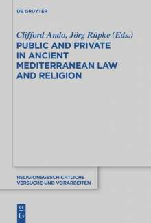 Public and Private in Ancient Mediterranean Law and Religion, Buch