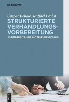 Caspar Behme: Strukturierte Verhandlungsvorbereitung, Buch