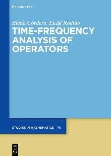 Elena Cordero: Time-Frequency Analysis of Operators, Buch