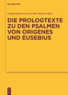 Die Prologtexte zu den Psalmen von Origenes und Eusebius, Buch