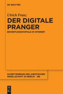 Ulrich Franz: Der digitale Pranger, Buch