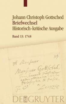 Johann Christoph Gottsched: Januar 1748 - Oktober 1748, Buch