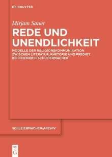 Mirjam Sauer: Rede und Unendlichkeit, Buch