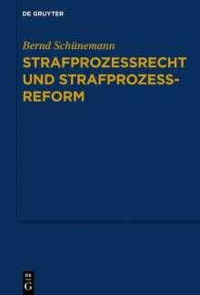 Bernd Schünemann: Gesammelte Werke 03: Strafprozessrecht und Strafprozessreform, Buch