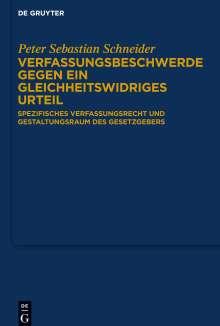 Peter Sebastian Schneider: Verfassungsbeschwerde gegen ein gleichheitswidriges Urteil, Buch
