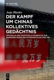 Anja Blanke: Der Kampf um Chinas kollektives Gedächtnis, Buch