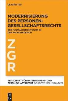 Modernisierung des Personengesellschaftsrechts, Buch