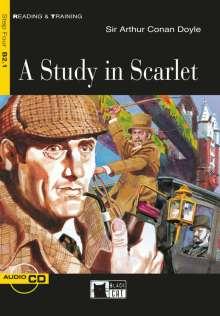 Arthur Conan Doyle: A Study in Scarlet. Buch + Audio-CD, Buch