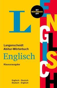 Langenscheidt Abitur-Wörterbuch Englisch Klausurausgabe, 1 Buch und 1 Diverse