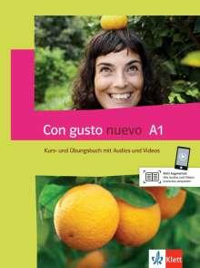 Con gusto nuevo A1. Kurs- und Übungsbuch + MP3-CD + DVD, Buch