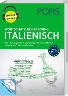 PONS Wortschatz-Hörtraining Italienisch mit Begleitheft und MP3-CD, CD