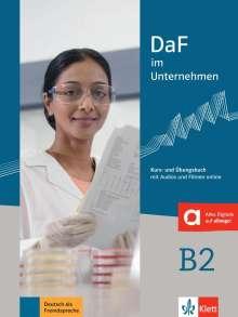 Nadja Fügert: DaF im Unternehmen B2 - Kurs- und Übungsbuch mit Audios und Filmen online, Buch