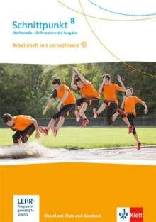 Schnittpunkt Mathematik 8. Differenzierende Ausgabe Rheinland-Pfalz und Saarland. Arbeitsheft mit Lösungsheft und Lernsoftware Klasse 8, Buch