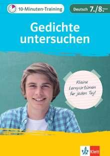 10 Minuten Training Deutsch Aufsatz Gedichte Untersuchen 78 Klasse