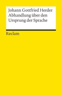 Johann Gottfried Herder: Abhandlungen über den Ursprung der Sprache, Buch