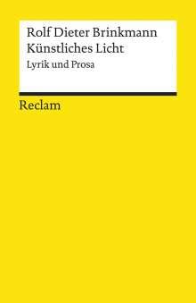 Rolf Dieter Brinkmann: Künstliches Licht, Buch