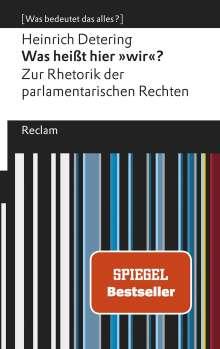Heinrich Detering: Was heißt hier »wir«?, Buch