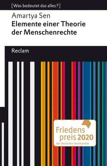 Sen Amartya: Elemente einer Theorie der Menschenrechte, Buch
