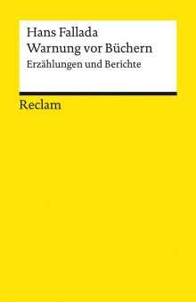 Hans Fallada: Warnung vor Büchern, Buch