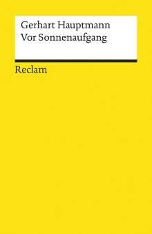 Gerhart Hauptmann: Vor Sonnenaufgang, Buch